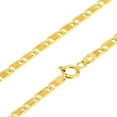 Lanț din aur - zale plate alungite cu plasă, 500 mm - Lantisor aur