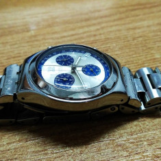 CEAS SWATCH IRONY TACHIMETER CHRONOGRAPH 4 JEWELS - 42mm CASE - Ceas barbatesc Swatch, Elegant, Quartz, Otel, Tahimetru