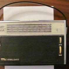 GE - Radio ELECTRONICA S651T baterii 4 game 10 tranzistoare functional anii '60 - Aparat radio Electronica, Analog