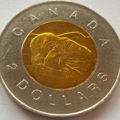 Moneda bimetal 2 Dolari - CANADA, anul 1996 *cod 4299, America de Nord