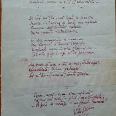 Manuscris Victor Eftimiu ;Umpland mereu cu vid zadarnicia, 1954, mason, aroman - Autograf