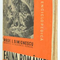Fauna Romaniei - I. Siminonescu - 1938