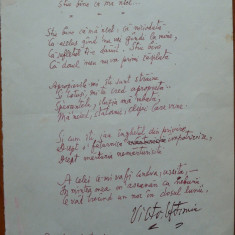 Poezie de Victor Eftimiu ; Stiu bine ca ma-nsel, 1954, mason, aroman - Autograf