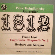 TSCHAIKOWSKY/LISZT - 1812/HUNGARIAN RHAPSODY (1963/Columbia/Germany) - VINIL/RAR - Muzica Clasica