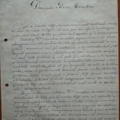 Plangere a maiorului Petre Niculescu catre prim Ministrul Dimitrie Sturdza, 1891