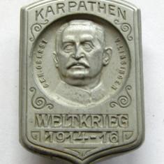X803 Insigna Austria WW1 Campania in Carpati 1914 1916 general Linsignen, Europa