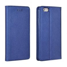 Husa HUAWEI Honor 8 Flip Case Inchidere Magnetica Navy - Husa Telefon Huawei, Albastru, Piele Ecologica, Cu clapeta, Toc