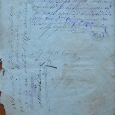 Document din 1870, scris olograf