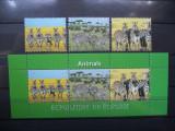 BURUNDI 2011 – ANIMALE DIN AFRICA, ZEBRE, serie si bloc MNH, A182, Nestampilat