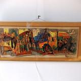 MARCEL IANCU(1895-1984)Razboi si pace, cromolitografie, exemplar de artist