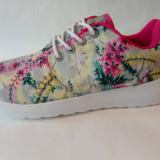 Adidas Super Gear cu flori, marimi de la 37 la 41 - Adidasi dama, Culoare: Din imagine, Marime: 38, 39, 40, Textil