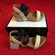 Sandale - BATA - Sandale dama Bata, Culoare: Crem, Marime: 38