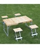 Masa pliabila cu 4 scaune pentru camping / picnic
