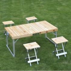 Masa pliabila cu 4 scaune pentru camping - Mobilier camping