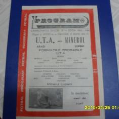 Program UTA - Minerul Lupeni - Program meci