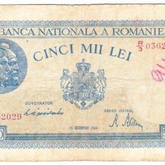 3) Bancnota 5000 lei 1944 15 decembrie - Bancnota romaneasca