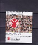 ROMANIA 2010  LP 1867  20  DE ANI  ACTIVITATE  SALVATI COPII  SERIE CU TABS MNH, Nestampilat