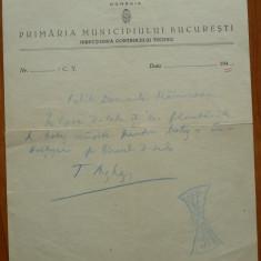 Misiva a lui Tudor Arghezi catre un prieten, referitoare la un botez - Autograf