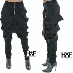 Pantaloni din stofa Hardcore fashion - Pantaloni XXXL, Culoare: Negru