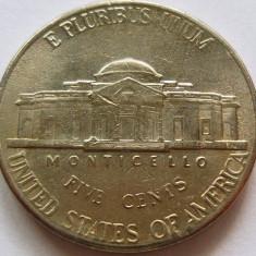 Moneda 5 Centi - SUA, anul 2002 *cod 4327 Litera P, America de Nord