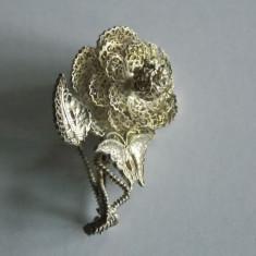 Brosa de argint in filigran -floare -1252 - Brosa argint
