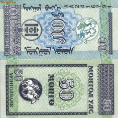 MONGOLIA 50 mongo 1993 UNC!!! - bancnota asia