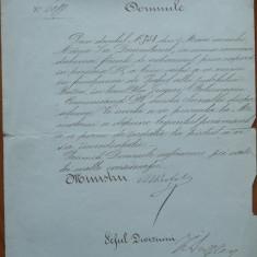 Numirea Prefectului de Buzau, 1870, semnatura Primului Ministru Epureanu - Autograf