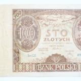 100 zlotych/ zloti, 1934 Polonia/ PLN1B - bancnota europa