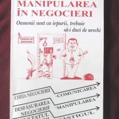 """MANIPULAREA IN NEGOCIERI"", Hassan Souni, 1998. Carte noua, Alta editura"