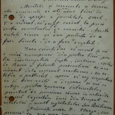 Scrisoare a lui Valentineanu, proprietarul si directorul ziarului Reforma, 1895 - Autograf