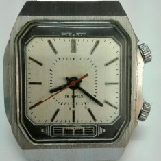 Ceas mecanic bărbați Poljot cu alarmă. Made in USSR - Ceas barbatesc Poljot, Mecanic-Manual, Inox, Analog