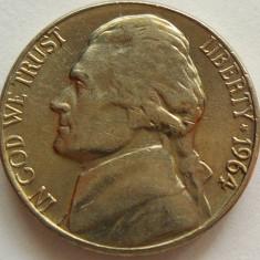 Moneda 5 Centi - SUA, anul 1964 *cod 4309, America de Nord