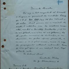 Scrisoare a scriitoarei Constanta Hodos - Autograf