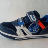 Adidasi pentru baieti,albastru cu alb, marimi de la 27 la 32