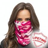 Bandana/Face Shield/Cagula/Esarfa - Pink Camo, made in USA, Din imagine