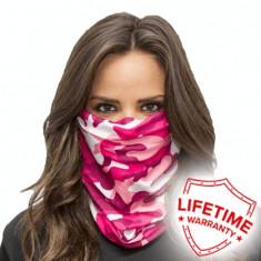 Bandana/Face Shield/Cagula/Esarfa - Pink Camo, made in USA