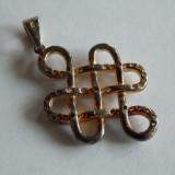 Pandant de argint cu zirconii -689 - Pandantiv argint