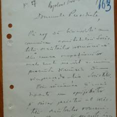 Scrisoare a lui Octavian C. Taslauanu de la Luceafarul, 1920 - Autograf