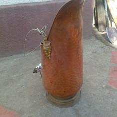 Vas carbuni, cupru alama, mare - Metal/Fonta