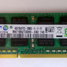 Ram laptop Samsung 4GB PC3-12800 DDR3 1600Mhz M471B5273DH0-CK0 PC3 1.5V Sodimm z, 4 GB, 1600 mhz