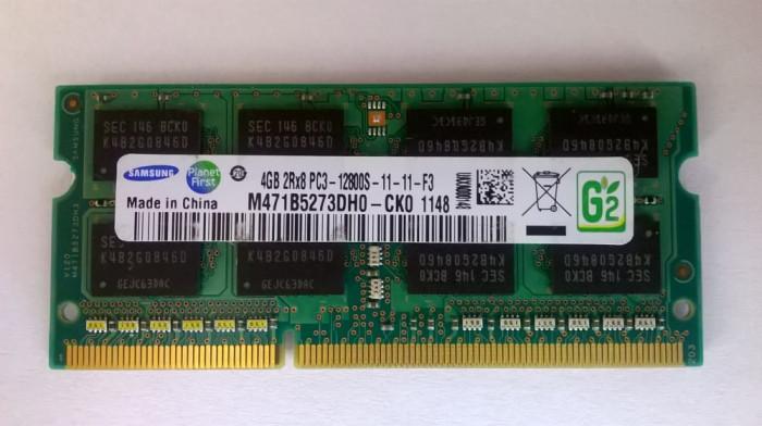 Ram laptop Samsung 4GB PC3-12800 DDR3 1600Mhz M471B5273DH0-CK0 PC3 1.5V Sodimm z
