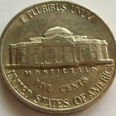 Moneda 5 Centi - SUA, anul 1988 *cod 4317 Litera P, America de Nord