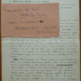 Manuscris Victor Ion Popa, 3 pagini din Mesterasul Aurel, aviatie - Autograf