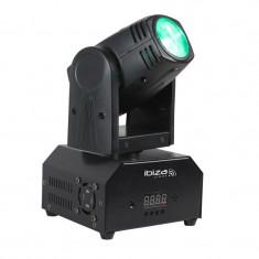 IBIZA LMH250-RC, cap pivotant, cap în mișcare, Moving head, 10 W cree led RGBW 4 în 1, DMX, telecomandă - Casca PC