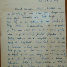 Scrisoare olografa Otilia Cazimir, 2 pagini, 1953 - Autograf