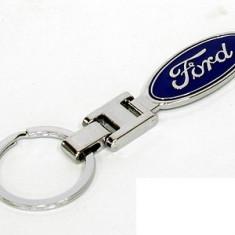 Breloc auto nou model pentru FORD detaliu metal + cutie simpla cadou