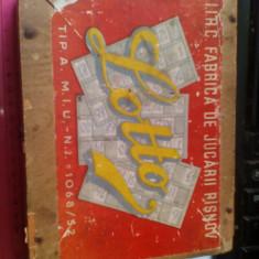 Bnk jc Romania - Joc Lotto 1952 - Fabrica de jucarii Rasnov - Joc colectie
