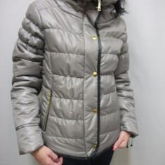 Jacheta moderna de toamna, primavara, culoare gri, fara gluga (Culoare: GRI, Marime: Xl-42) - Jacheta dama