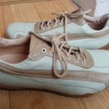 Pantofi din piele marimea 39, sunt noi! - Pantof dama, Culoare: Crem, Piele naturala, Cu talpa joasa