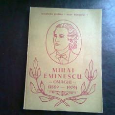 MIHAI EMINESCU - OMAGIU (1889 - 1979)
